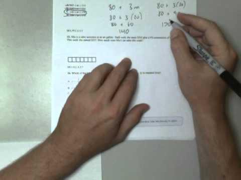 Florida Algebra 1 EOC Exam practice Part 2 (#10-20) - YouTube