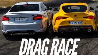 Drag Race : BMW M2 Competition VS Toyota GR Supra