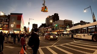 Watching Traffic at Main Street & Roosevelt Avenue in Flushing, Queens, NYC during Rush Hour
