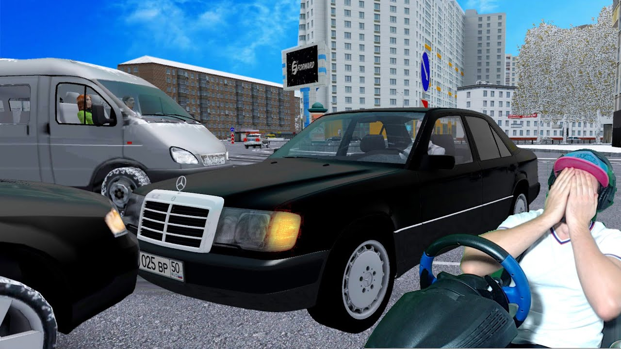 БЕШЕННЫЙ ТАКСИСТ В ШОКЕ ОТ СТАРОГО МЕРСЕДЕСА - МЕХАНИК ИГРАЕТ в CITY CAR DRIVING + РУЛЬ