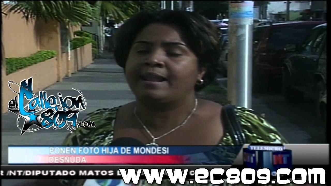 Circula foto desnuda de hija del sindico Raúl Mondesi