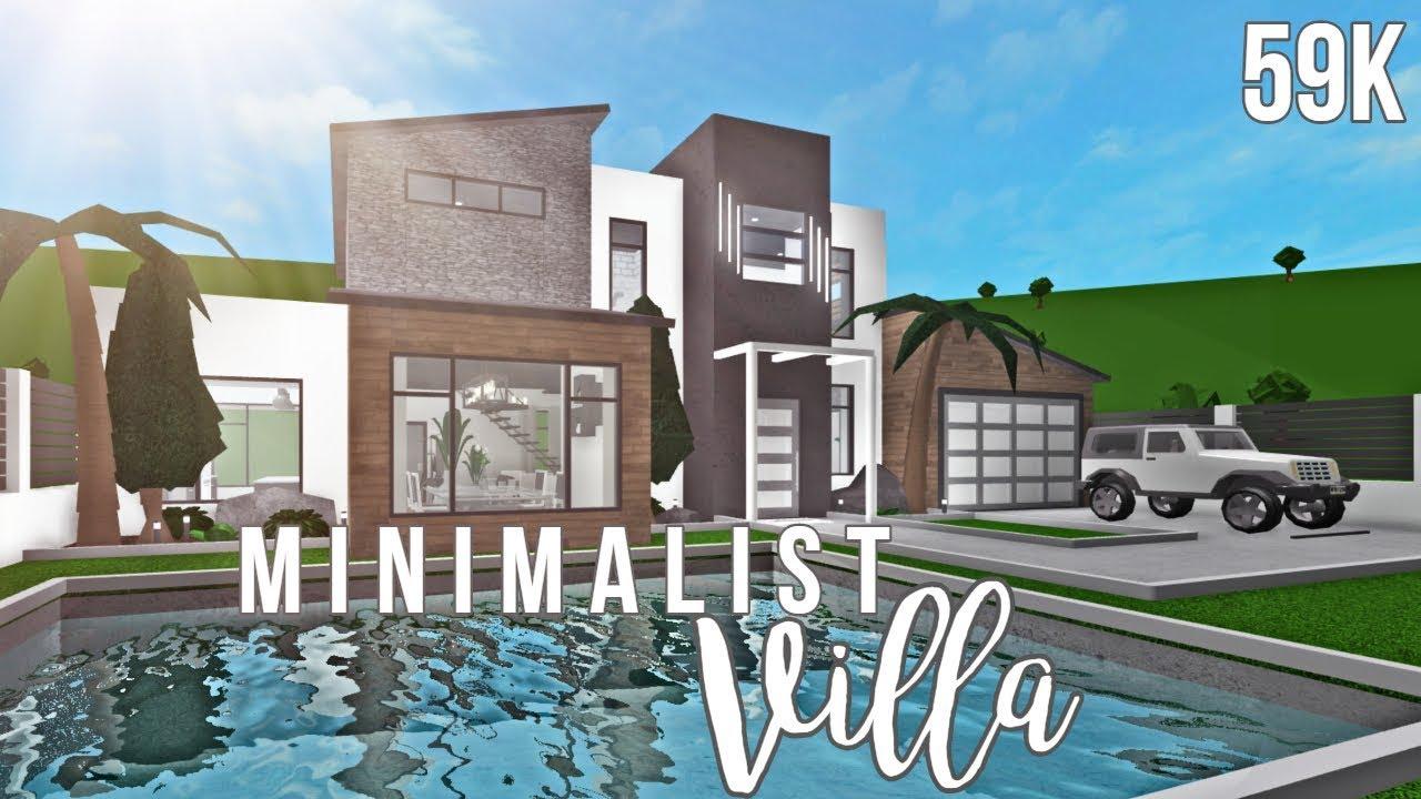 Bloxburg Minimalist Villa 59k Youtube