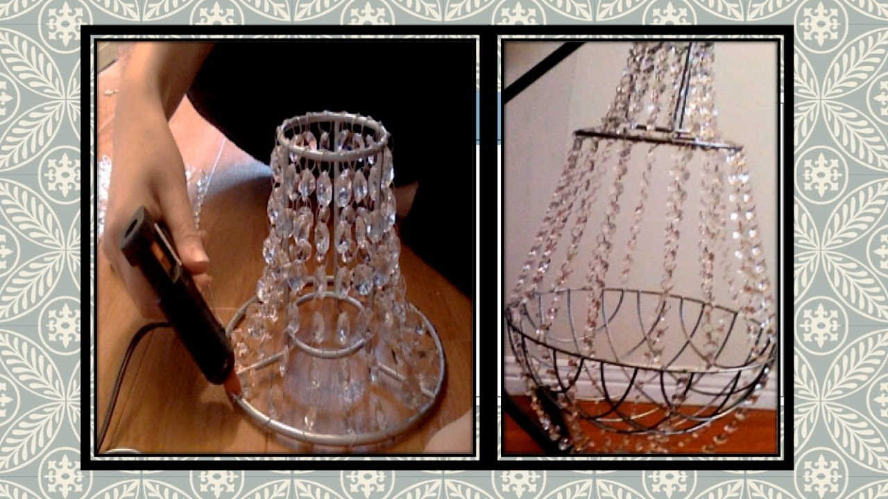 Diy crystal chandelier youtube diy crystal chandelier mozeypictures