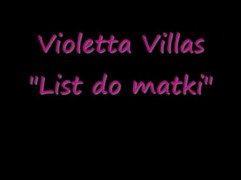 "Violetta Villas- ""List do Matki"" / instrumental, karaoke, bez linii melodycznej!"