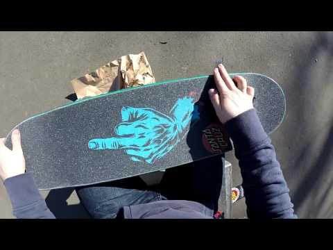 Skateboard Setup SANTA CRUZ Deck (First-Person)