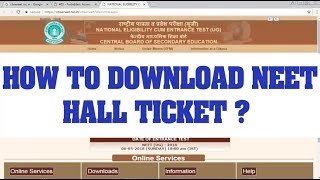 Neet Hallticket download | How to download neet hallticket ?