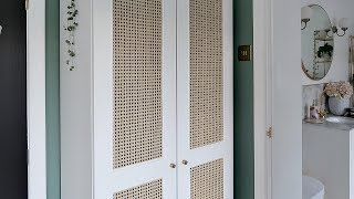 Rattan Cane IKEA Wardrobe DIY Hack For Under £170