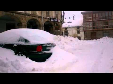 Gran nevada en Espinosa de los Monteros, Burgos