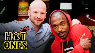 Jay Pharoah Channels Keanu Reeves While Eating Spicy Wings | Hot Ones