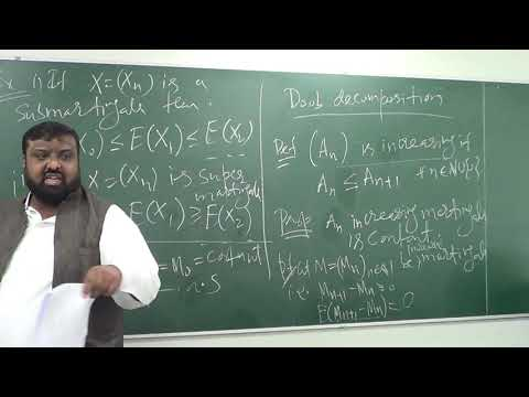 Stochastic Calculus Lecture 3 (Part 2): Sub & Supermartingales; Doob–Meyer Decomposition Theorem