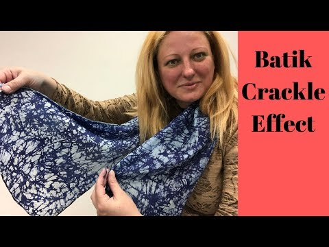 How To Create Batik Crackle Effect