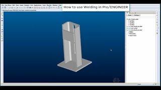 ProE tutorial: How to use Welding in ProENGINEER