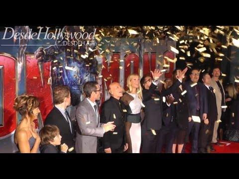 Robert Downey Jr. Steals The Iron Man 3 Cast Presentation (Hollywood Premiere)