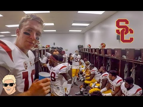 College Football BEHIND THE SCENES - USC Football vs ASU!
