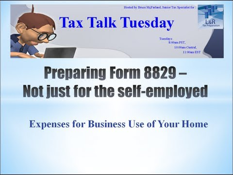 Preparing Form 8829 - Expenses for Business Use of Your Home