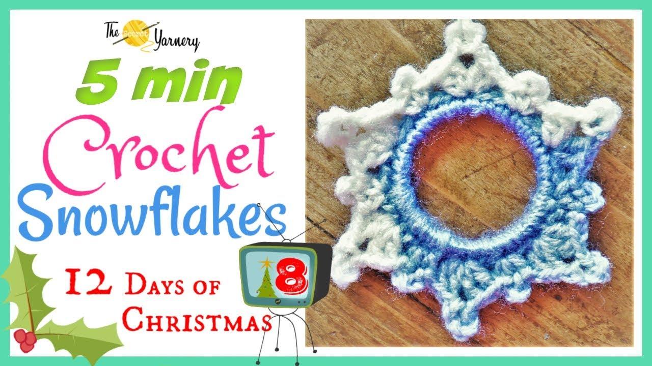 5 Minute Crochet Snowflake Pattern No Starch Easy Crochet