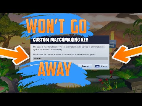 fortnite custom matchmaking key youtube