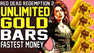 FASTEST WAY TO MAKE MONEY in Red Dead Redemption 2 – Unlimited GOLD BARS FARMING Money Tutorial
