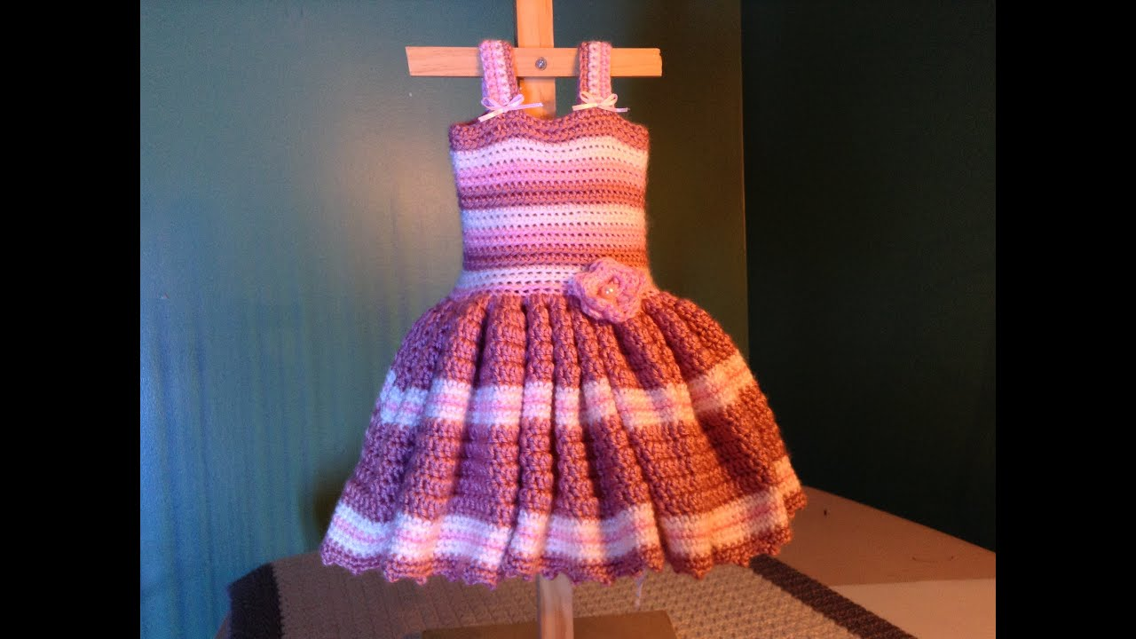 How to crochet easy baby dress for newborn ruffles youtube bankloansurffo Choice Image