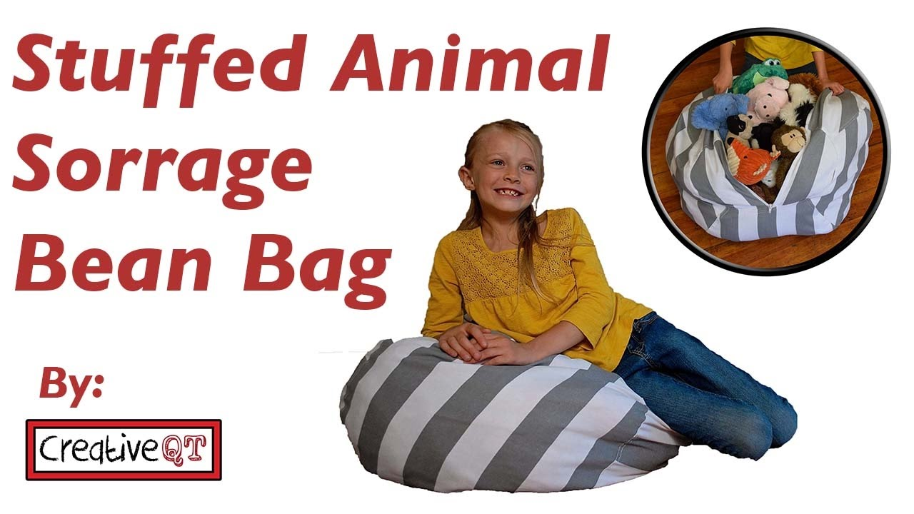 Bean Bag Storage Chair Zero Gravity Lounge Cup Holder Stuffed Animal Youtube