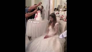 Обряд снятия фаты с невесты / Невеста показала лицо / Красивая кавказская свадьба 2018