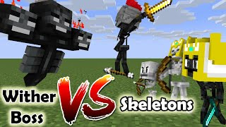 Monster School : Wither Boss VS Skeleton and Wither Skeleto - Minecraft Animation