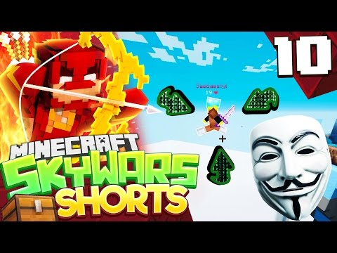 FLYING HACKER! (MINECRAFT SKYWARS SHORTS #10)