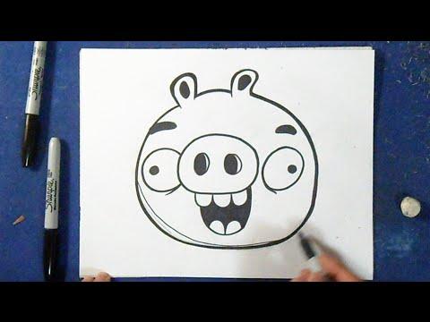 como desenhar o porco 3 bad piggies angry birds youtube