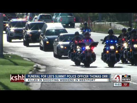 Funeral for Lee's Summit police officer Thomas Orr