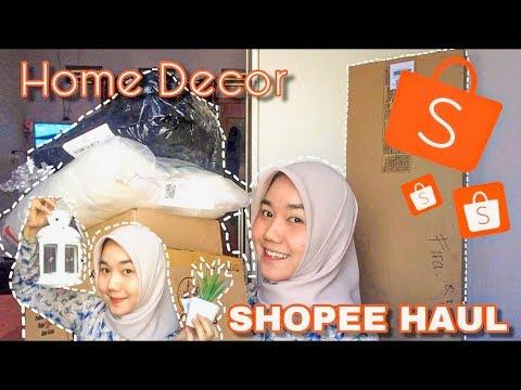 shopee haul perlengkapan dekorasi kamar termurah di shopee