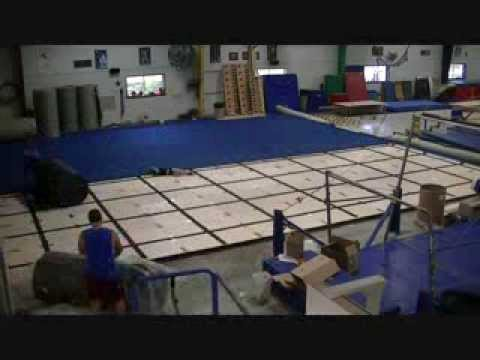 Watch us install a gymnastics spring floor in 5 minutes