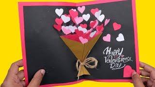 Easy Handmade Valentine's Day Card   How to Make DIY Valentine's Day pop up card   Craftsbox