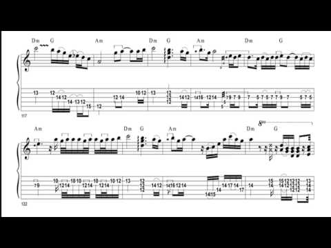 Dire Straits - Once Upon a time in the west (Alchemy Live) - Guitar Score and Tab
