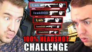 100% HEADSHOT CHALLENGE!  - CS:GO