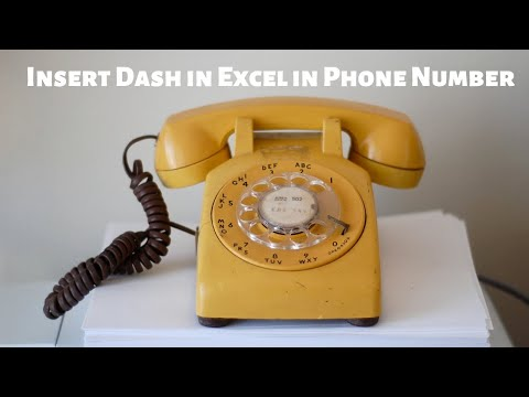 Insert Dash Into Phone Number Using Excel Functions