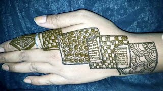 Easy Tricky Mehndi Design with Paper ( Mehndi Design for Beginners) Arabic Henna