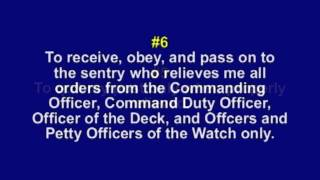 The Eleven General Orders of a Sentry