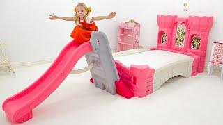 नस्तास्या ने अपना नया कमरा सजाया