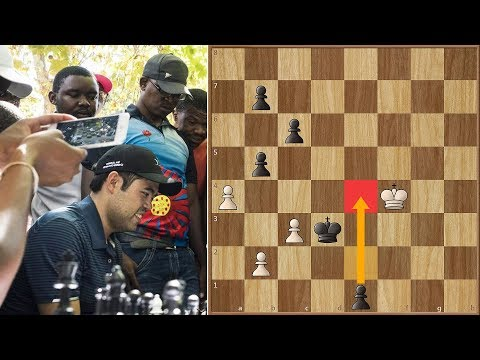 Nakamura Pushes The Pawn 4 Squares Against a South African Chess Hustler