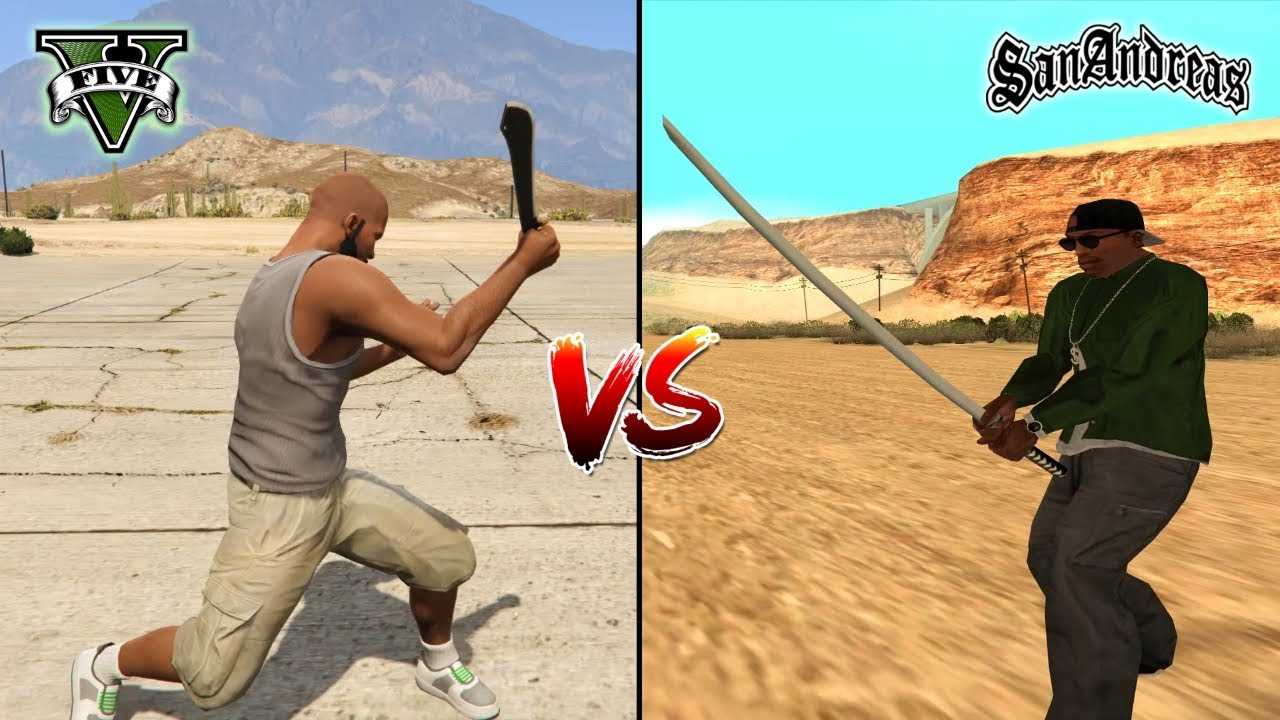 GTA 5 MACHETE VS GTA SAN ANDREAS KATANA - WHICH IS BEST?
