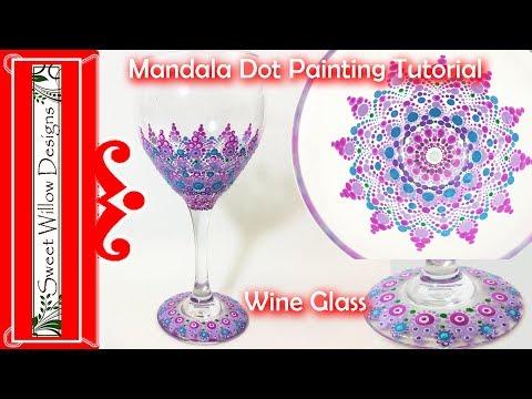 How to Paint Dot Mandalas #007 - Wine Glass