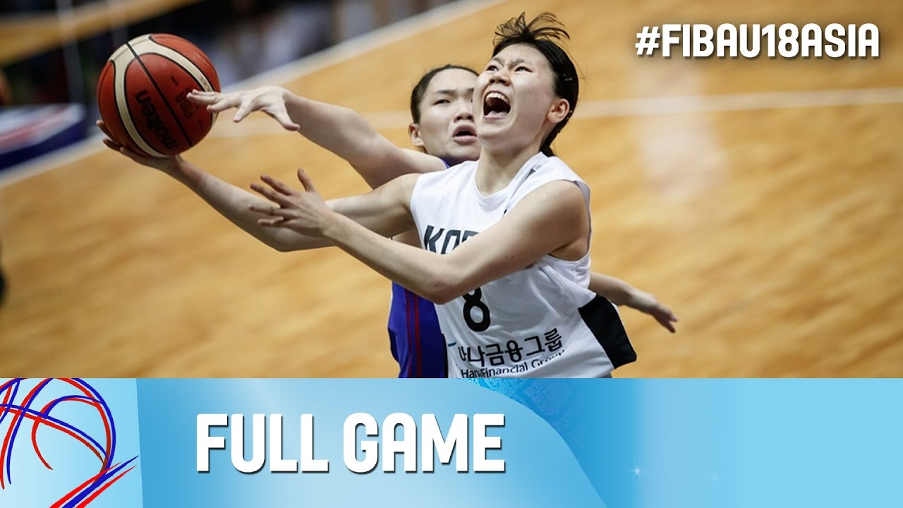 Korea v Chinese Taipei - Live - 3rd Place - FIBA Asia U18 Championship for Women 2016