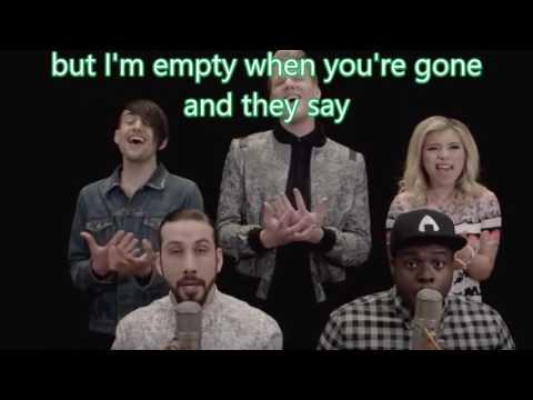 Pentatonix  - Cheerleader ( OMI cover ) karaoke with backing vocals