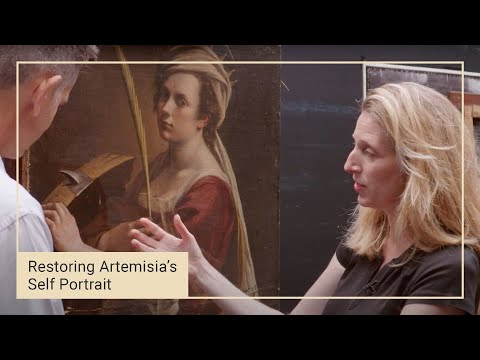 Cleaning Artemisia Gentileschi's 'Self Portrait' | National Gallery