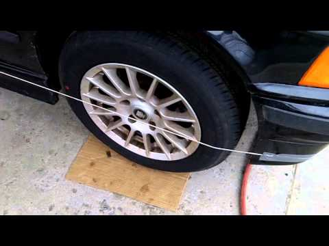 How to align your car with string, DIY