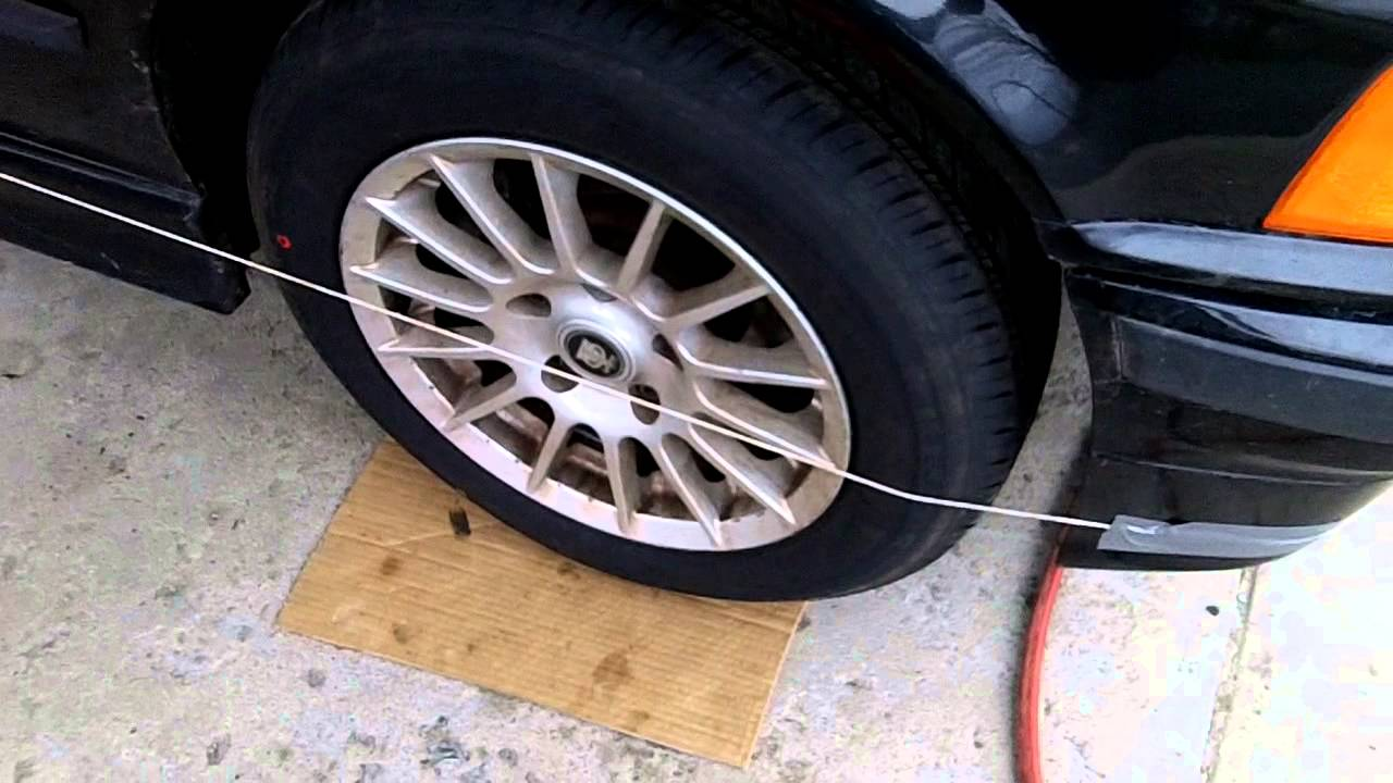 How To Align A Car >> How To Align Your Car With String Diy