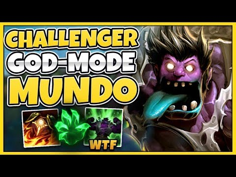 THIS IS THE POWER OF MUNDO IN CHALLENGER INSANE DMG AS A TANK - League of Legends