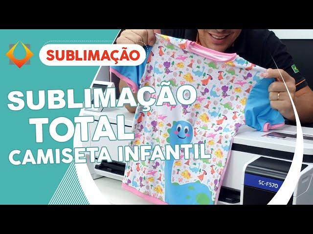 SUBLIMAÇÃO TOTAL EM CAMISETAS INFANTIS COM A EPSON F570