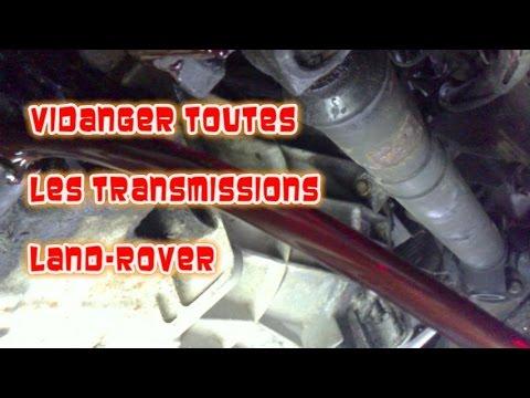 Vidanger toutes les transmissions Defender, Range Classic, Disco 1et2