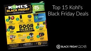 Kohl's Black Friday Ad 2018 - Top 15 Deals at Kohl's This Year!